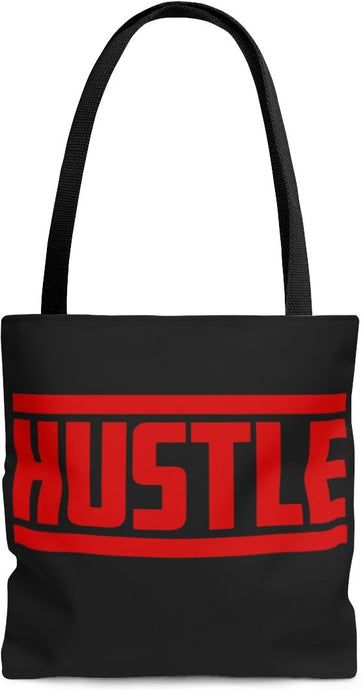 HUSTLE AOP Tote Bag