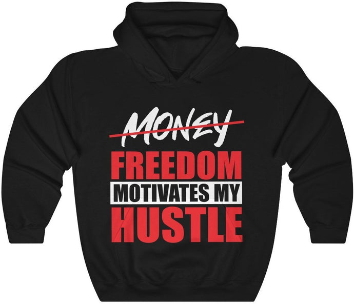 Freedom Motivates my Hustle - Unisex Heavy Blend™ Hooded Sweatshirt