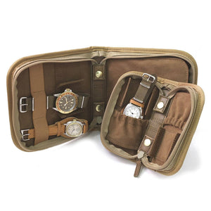 PORTER WATCH CASE FOR 2 WATCHES