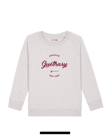 sweat enfant guethary blanc