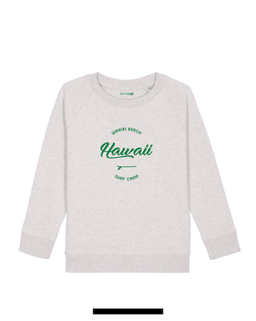 sweat enfant hawaii blanc