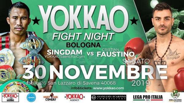 Singdam vs Faustino to Headline YOKKAO Fight Night Bologna