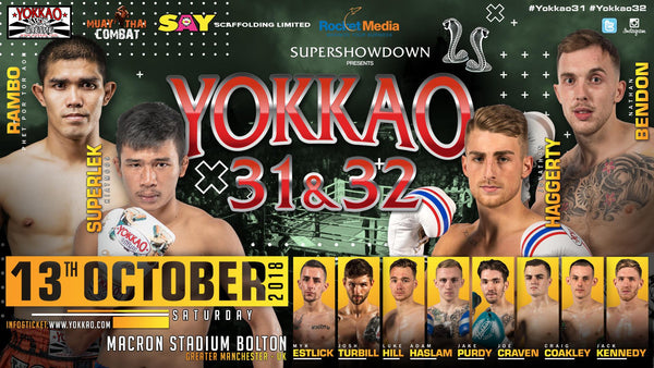 Full Fight Card Released for YOKKAO 31 - 32