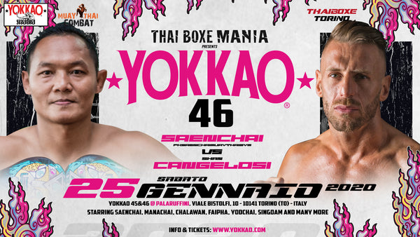 IRST FIGHT ANNOUNCED: SAENCHAI VS CANGELOSI 2 IN TURIN!