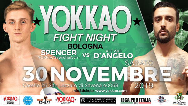 Spencer vs D'Angelo co-headlines YOKKAO Fight Night Bologna