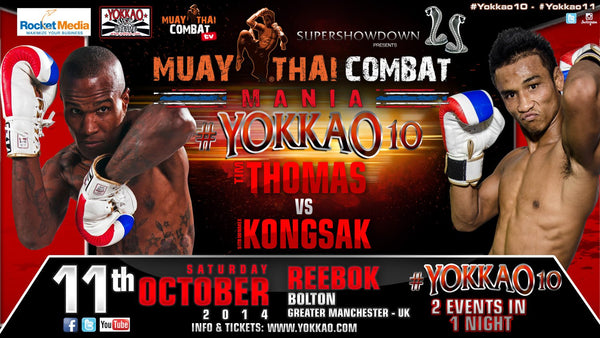 Tim Thomas replaces Liam Harrison to fight Kongsak at YOKKAO 10!