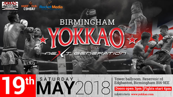 YOKKAO Next Generation Goes to Birmingham on 19th May!