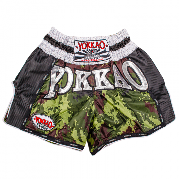 YOKKAO Green Army Carbon Muay Thai Shorts