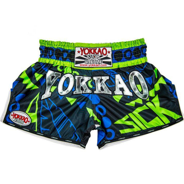 CarbonFit Sick Blue/Green Shorts