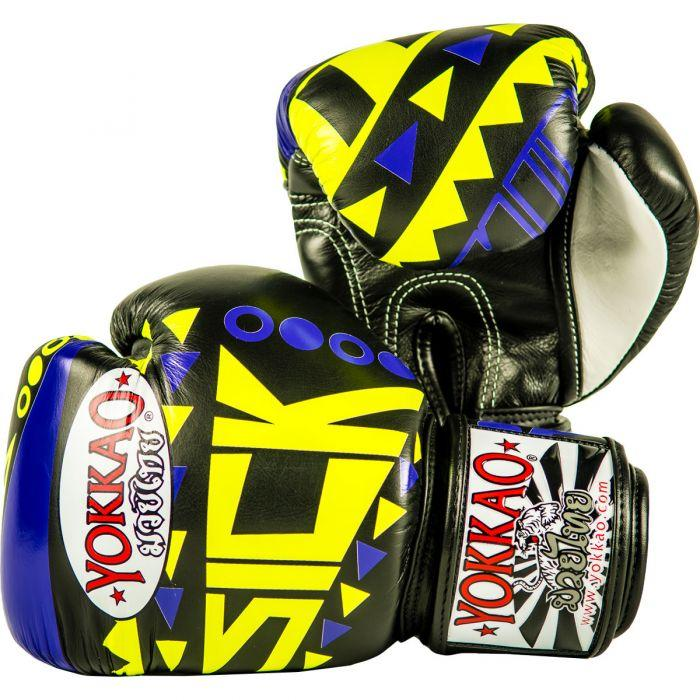 Sick Muay Thai Boxing Gloves Violet/Yellow