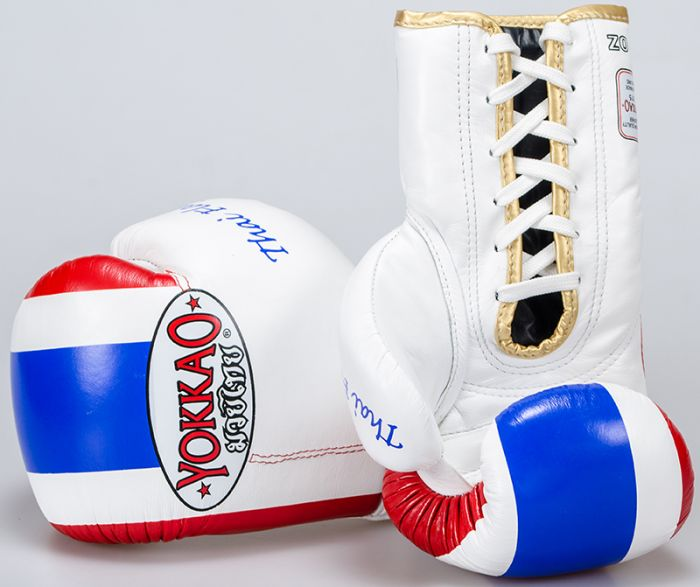 YOKKAO Thai Flag 2 Boxing Lace Up Gloves