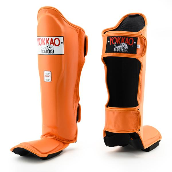Matrix Orange Tiger Shin Guards