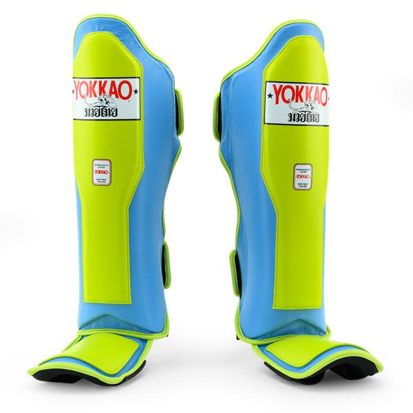Double Impact Lime Punch-Marina Shin Guards