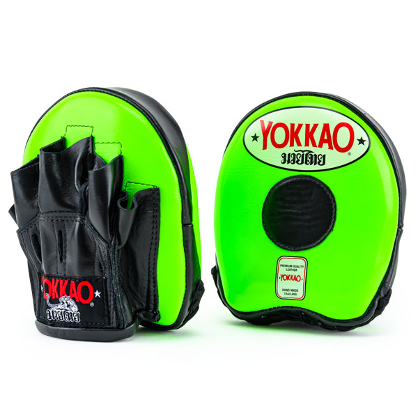 Focus Mitts Small Neon Green/Black