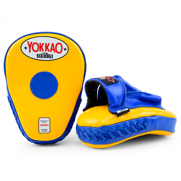 YOKKAO Yellow/Blue Curved Focus Mitts