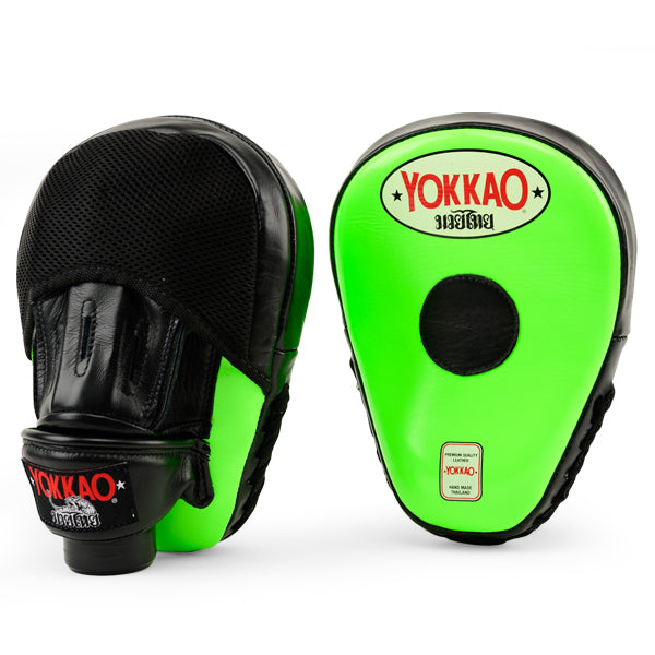 Focus Mitts Close-Finger Neon Green/Black