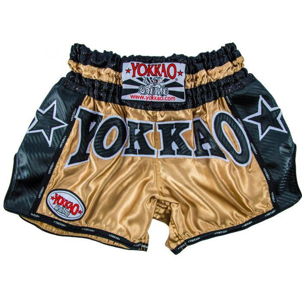 YOKKAO Vintage Carbon Shorts Gold/Black