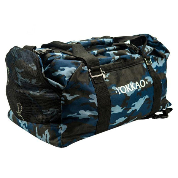 Convertible Blue Camo Gym Bag