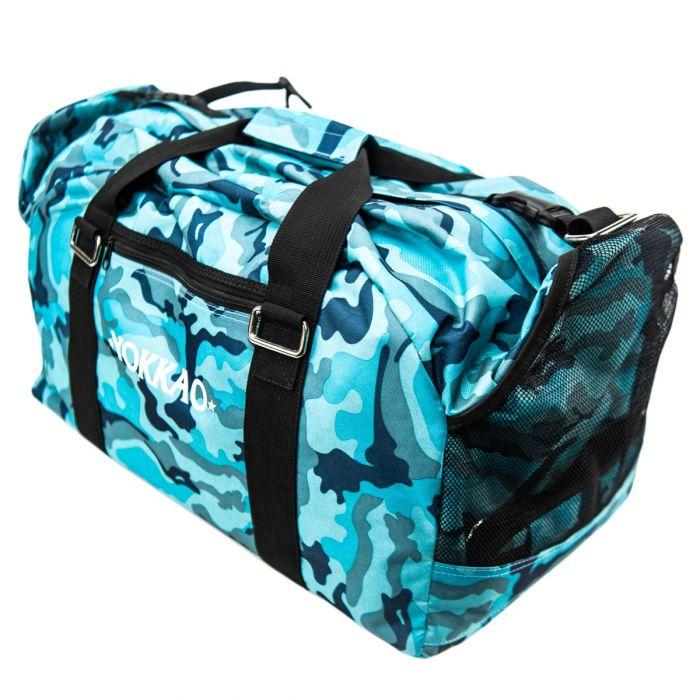 Convertible Turquoise Camo Gym Bag