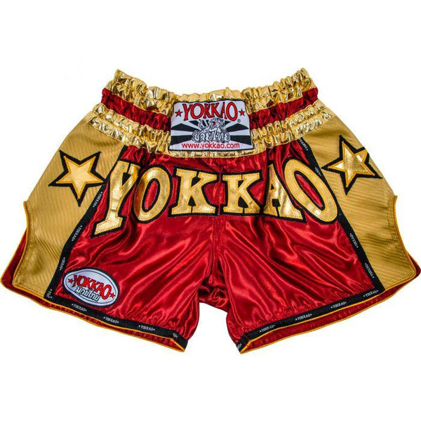 YOKKAO Vintage Carbon Shorts Red/Gold
