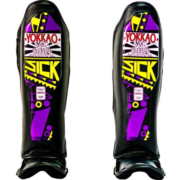 YOKKAO Sick Purple/Yellow Shin Guards