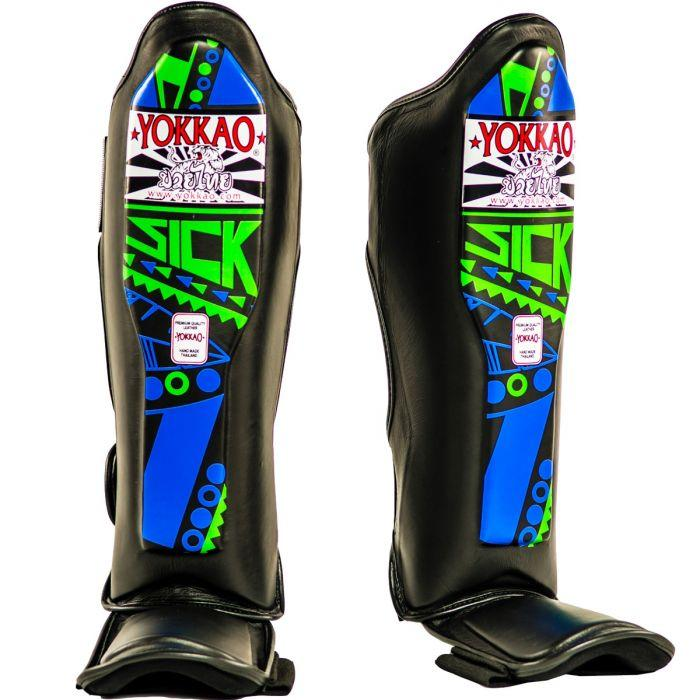YOKKAO Sick Blue/Green Shin Guards