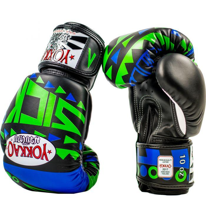 Sick Muay Thai Boxing Gloves Blue/Green