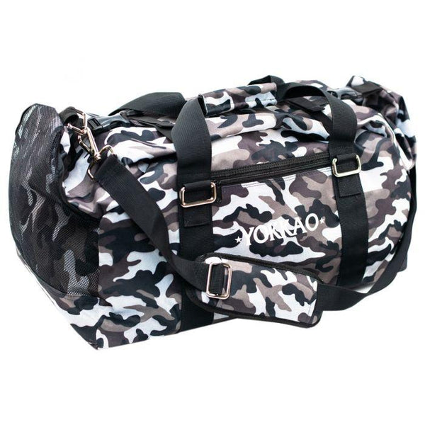 Convertible Grey Camo Gym Bag