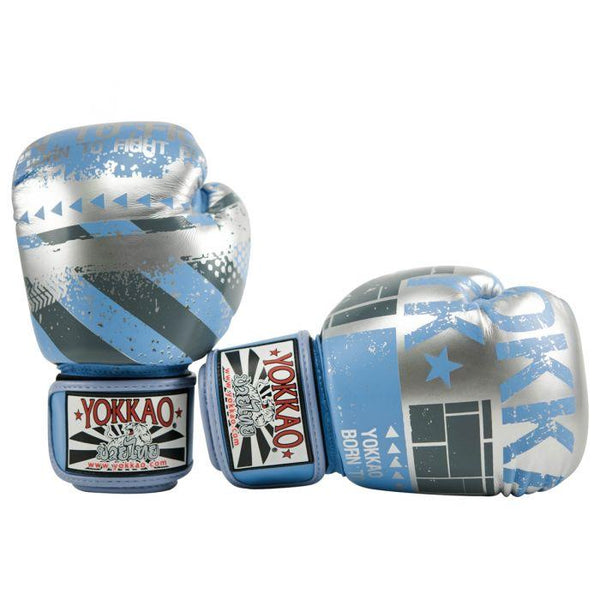 Hustle Marina/Silver Muay Thai Gloves