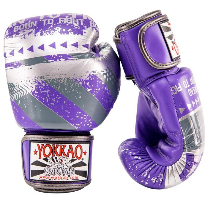 Hustle Ultra Violet/Silver Muay Thai Gloves