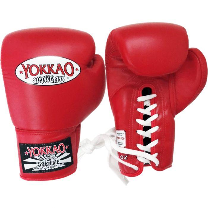 Matrix Red Lace Up Boxing Gloves