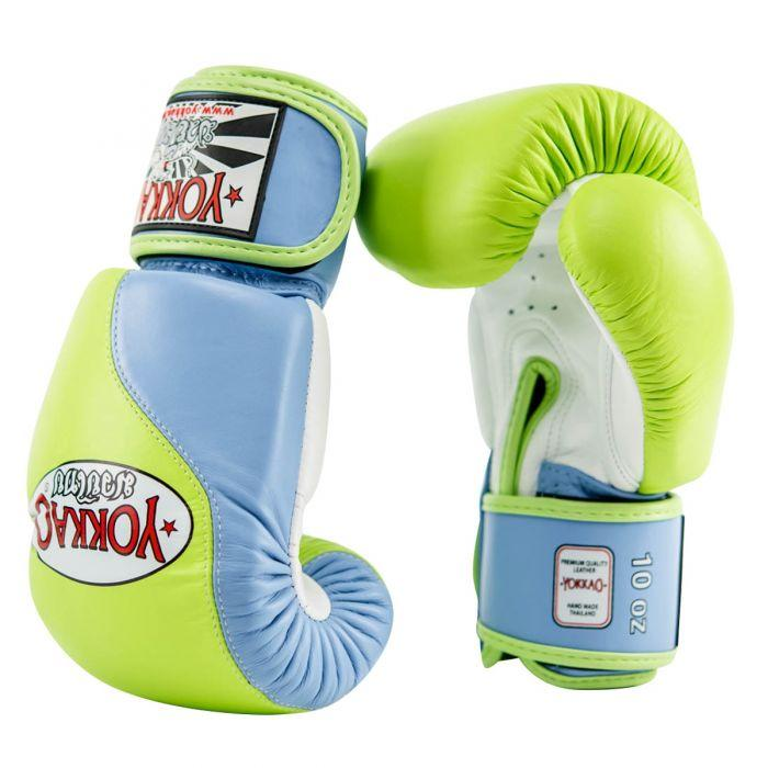 Double Impact Muay Thai Boxing Gloves Lime/Marina