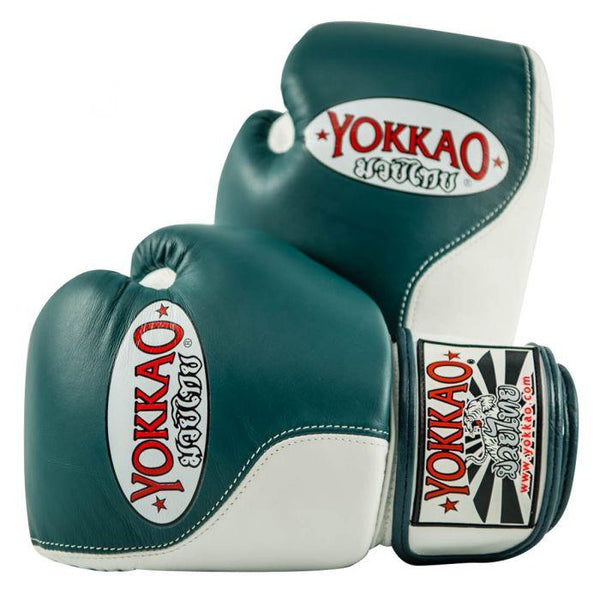 Double Impact Muay Thai Boxing Gloves Petroleum/White