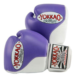 Double Impact Muay Thai Boxing Gloves VioletWhite