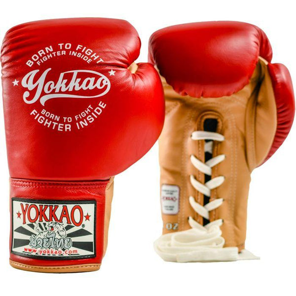 Vintage Boxing Red Lace Up Gloves