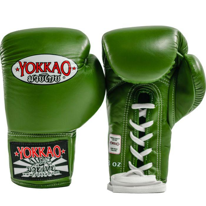 Matrix Green Lace Up Boxing Gloves