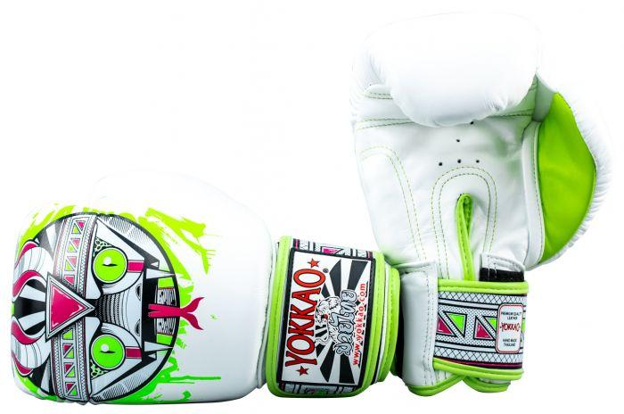 APEX Snake Muay Thai Boxing Gloves White