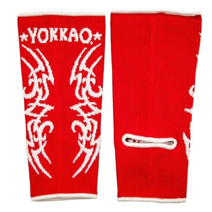 YOKKAO Tribal Muay Thai Ankle Guards Red