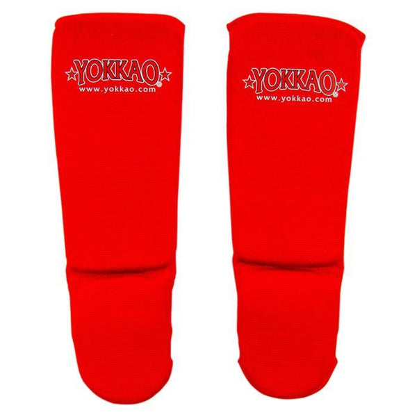 YOKKAO Kids Cotton Shin Guards Red