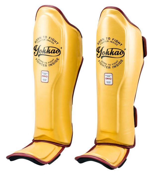 Vintage Gold Shin Guards