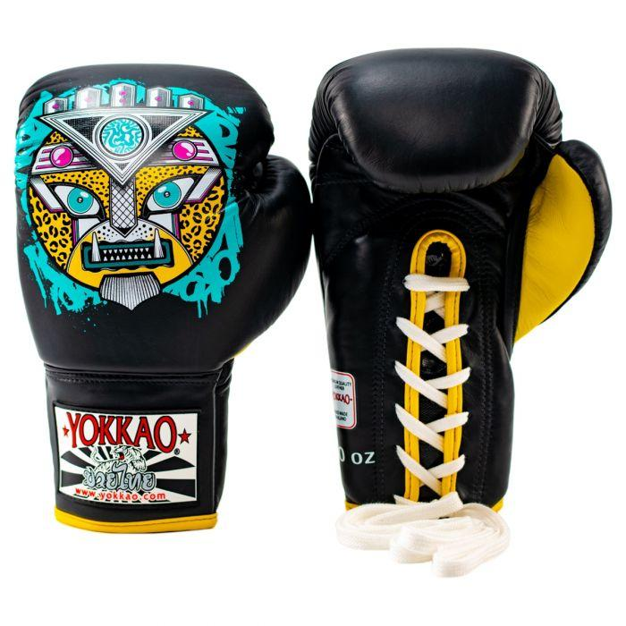 APEX Leopard Lace-Up Boxing Gloves