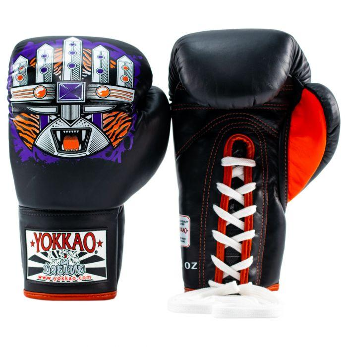 APEX Tiger Lace-Up Boxing Gloves
