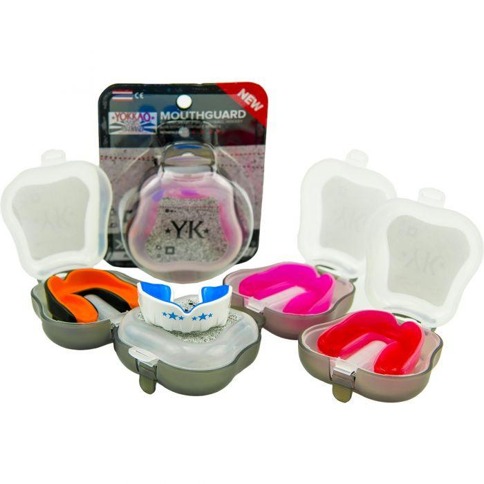 Muay Thai Boxing Mouth Guard Clear/Red