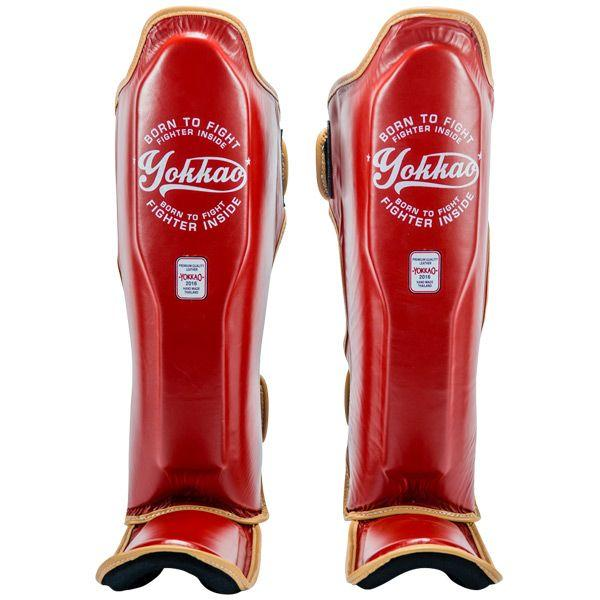 YOKKAO Vintage Red Shin Guards