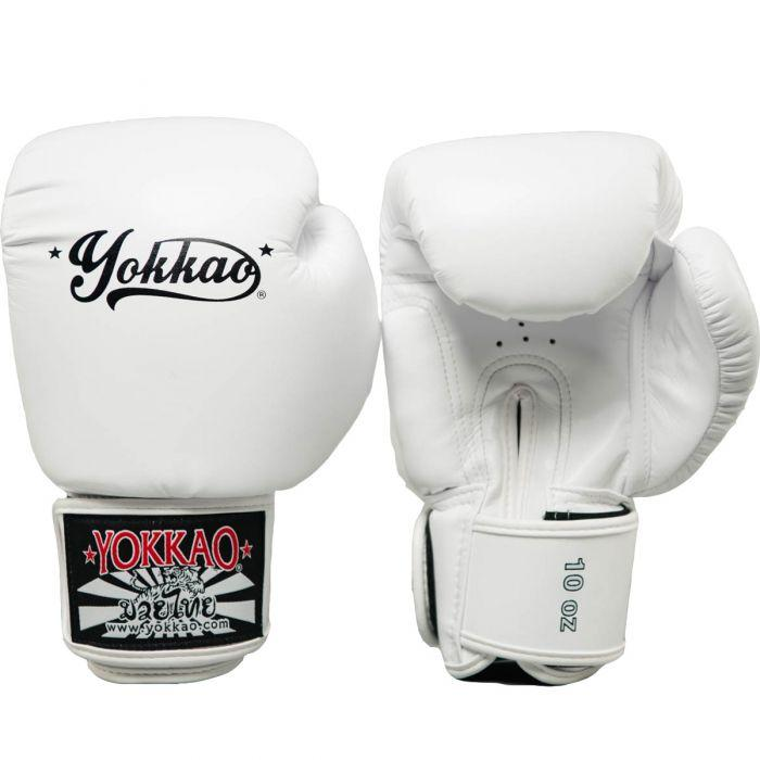 Vertigo White Muay Thai Gloves