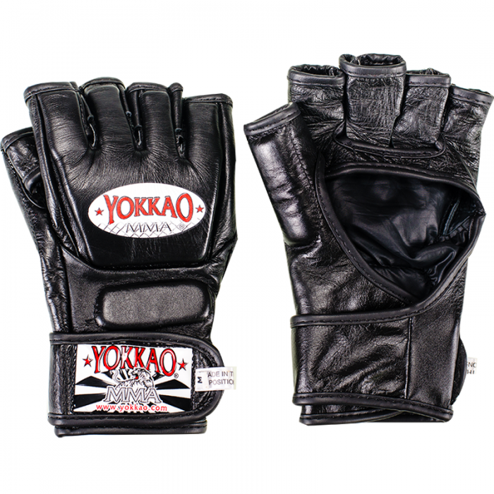 YOKKAO Black Competition MMA Gloves With Thumb