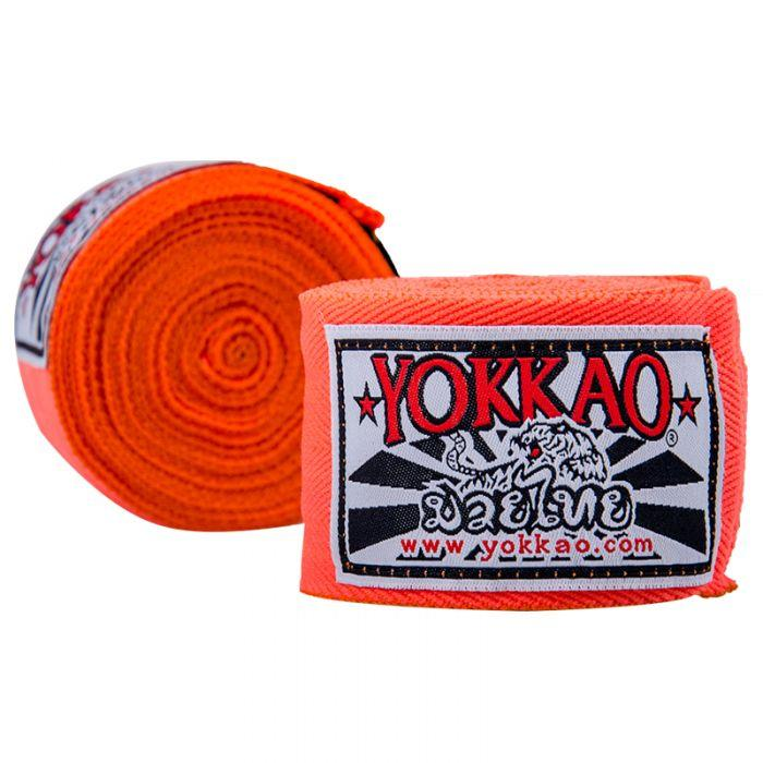 YOKKAO Muay Thai Hand Wraps Orange Neon