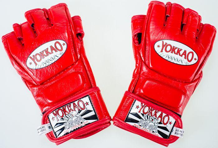 YOKKAO Red Competition MMA Gloves With Thumb