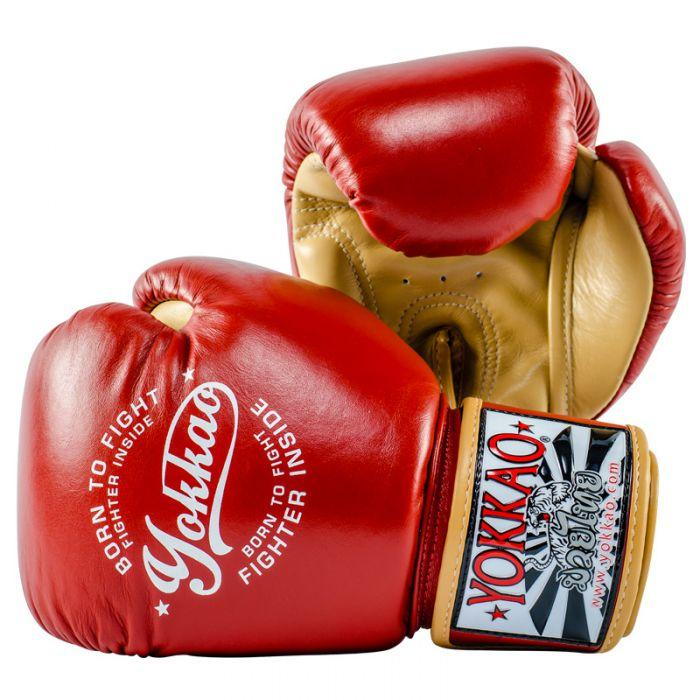 YOKKAO Vintage Boxing Red Gloves