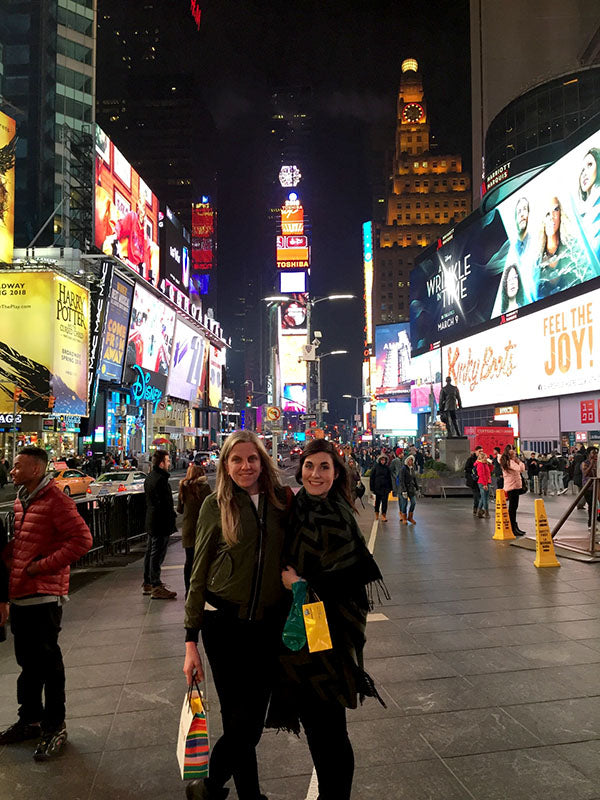 Danielle and Olivia at Times Square